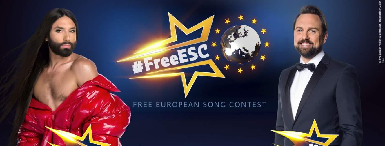 FreeESC - Die Moderatoren Conchita Wurst und Steven Gätjen